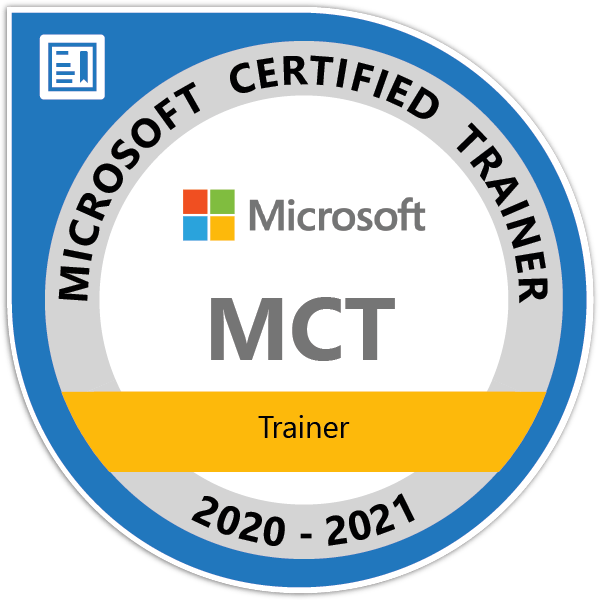 Microsoft Certified Trainer Badge 2020-21
